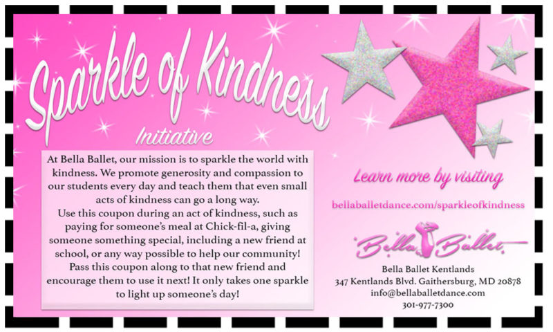 bella ballet's sparkle of kindness